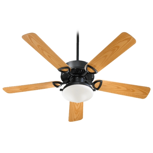Quorum Lighting Quorum Lighting Estate Patio Matte Black Ceiling Fan with Light 143525-959