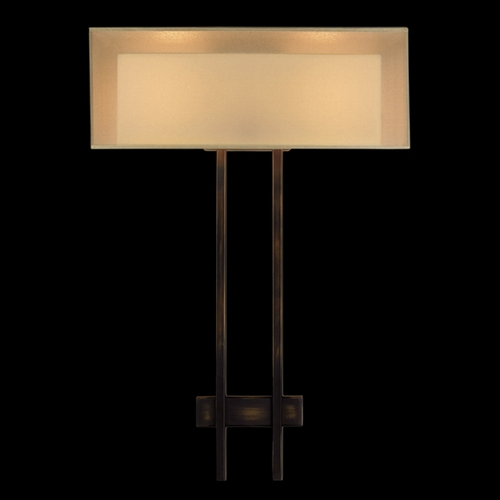 Fine Art Lamps Fine Art Lamps Quadralli Rich Bourbon with Golden Highlights Sconce 436450ST