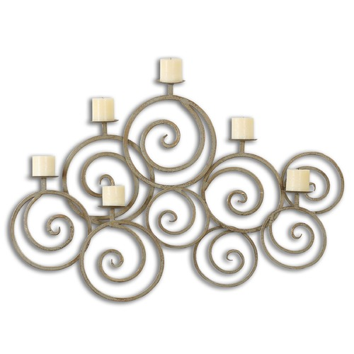 Uttermost Lighting Uttermost Fabricia Metal Candle Sconce 07686