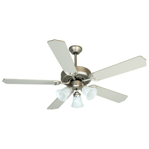 Craftmade Lighting Craftmade Pro Builder 205 Brushed Satin Nickel Ceiling Fan with Light K10422
