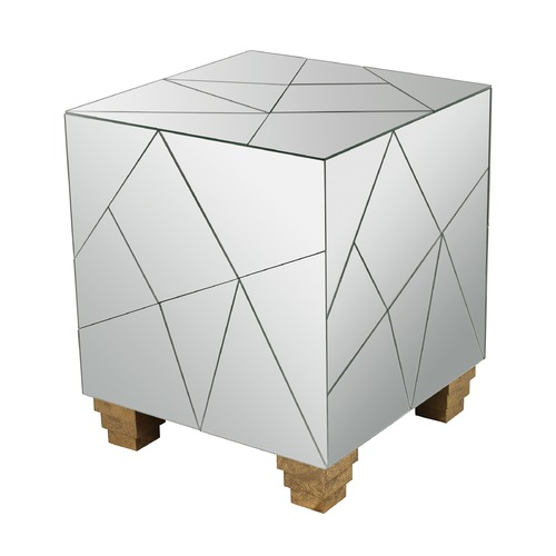 Dimond Home Mirrored Mosaic Cube Foot Stool 114-124