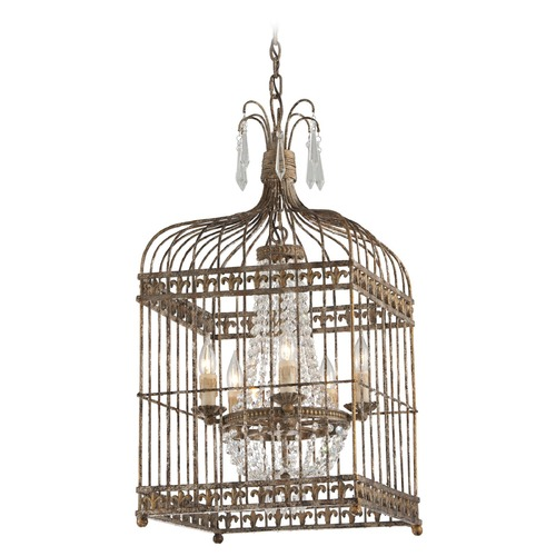 Troy Lighting Troy Lighting Amelie Provence Rust W/ Gold Accents Pendant Light F4545