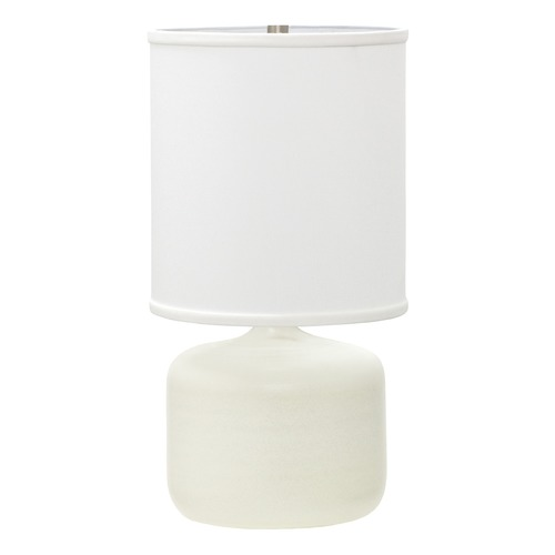 House of Troy Lighting House Of Troy Scatchard White Matte Table Lamp with Cylindrical Shade GS120-WM