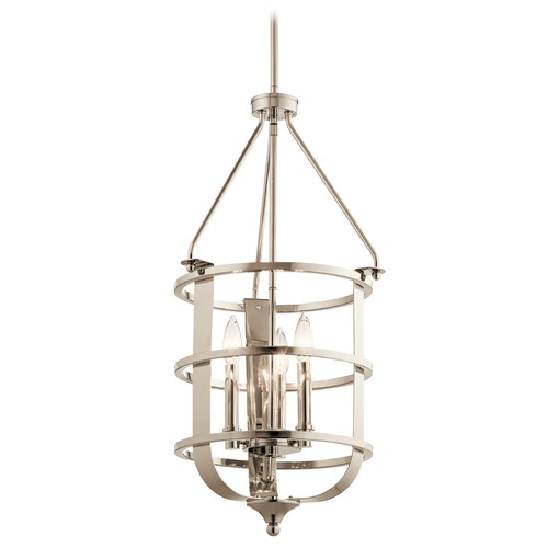 Kichler Lighting Traditional Pendant Light Polished Nickel Chatham by Kichler Lighting 44115PN