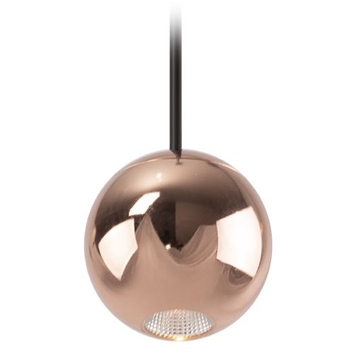 Kuzco Lighting Kuzco Lighting Exo Copper LED Mini-Pendant Light with Globe Shade PD15302-CP