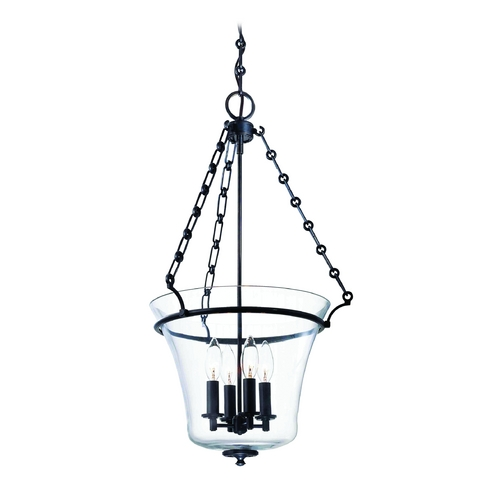 Hudson Valley Lighting Pendant Light with Clear Glass in Polished Nickel Finish 833-PN