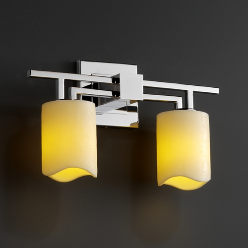Justice Design Group Justice Design Group Candlearia Collection Bathroom Light CNDL-8702-14-CREM-CROM