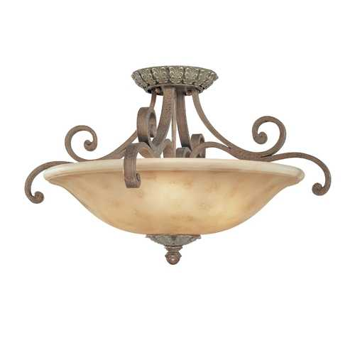 Dolan Designs Lighting Three-Light Semi-Flush Ceiling Light 5825-38