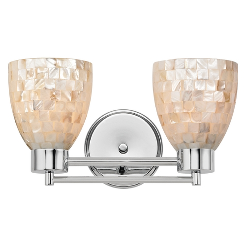 Design Classics Lighting Bathroom Light with Mosaic Glass in Chrome Finish 702-26 GL1026MB