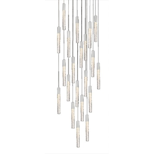 Modern Forms by WAC Lighting Modern Forms By Wac Lighting Magic Polished Nickel LED Multi-Light Pendant with Cylindrical Shade PD-35621-PN