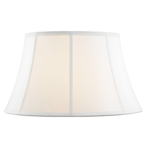 Design Classics Lighting Pure White Bell Fabric Lamp Shade with Piping and Spider Assembly SH9692