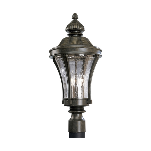 Progress Lighting Progress Post Light with Clear Glass in Forged Bronze Finish P5438-77