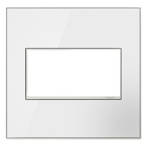 Legrand Adorne Legrand Adorne Mirror White 2-Gang Switch Plate AWM2GMW4