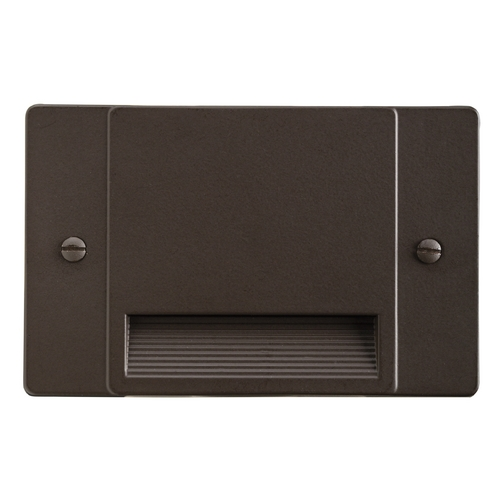 Kichler Lighting Kichler Lighting Step and Hall Light Architectural Bronze LED Recessed Step Light 12663AZ