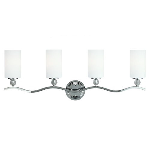 Sea Gull Lighting Sea Gull Lighting Englehorn Chrome / Optic Crystal Bathroom Light 4413404BLE-05