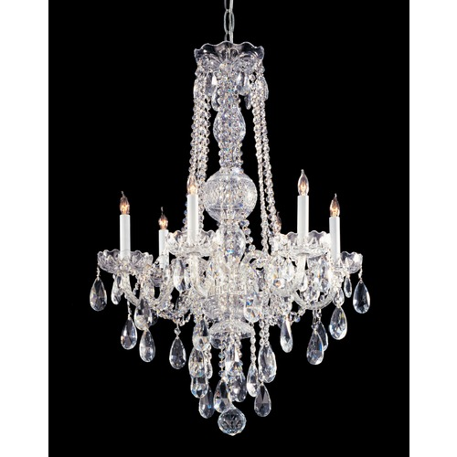 Crystorama Lighting Crystorama Lighting Traditional Crystal Polished Chrome Chandelier 1106-CH-CL-S