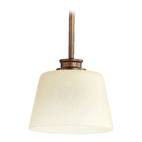 Quorum Lighting Quorum Lighting Oiled Bronze Mini-Pendant Light with Empire Shade 3002-86