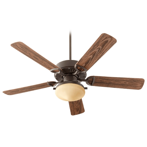 Quorum Lighting Quorum Lighting Estate Patio Oiled Bronze Ceiling Fan with Light 143525-986
