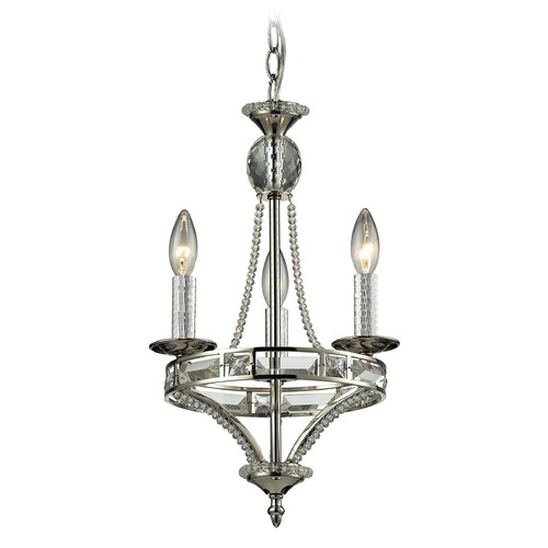 Elk Lighting Elk Lighting Aubree Polished Nickel Mini-Chandelier 31503/3