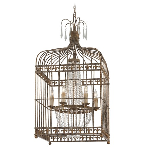 Troy Lighting Troy Lighting Amelie Provence Rust W/ Gold Accents Pendant Light F4546