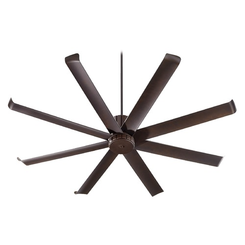 Quorum Lighting Quorum Lighting Proxima Patio Oiled Bronze Ceiling Fan Without Light 196728-86
