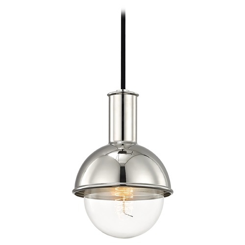 Mitzi by Hudson Valley Riley Polished Nickel Mini-Pendant Light Mitzi by Hudson Valley H111701-PN