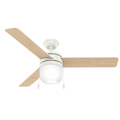 Hunter Fan Company Hunter 52-Inch Fresh White LED Ceiling Fan with Light 59403
