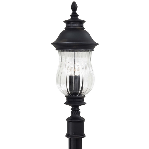 Minka Lavery Post Light with Clear Glass in Heritage Finish 8909-94