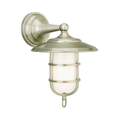 Hudson Valley Lighting Sconce with White Glass in Antique Nickel Finish 2901-AN