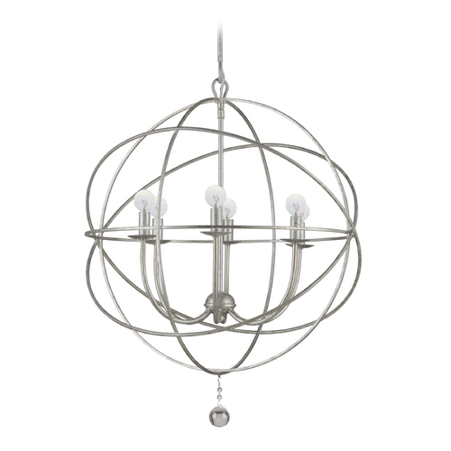 Crystorama Lighting Pendant Light in Olde Silver Finish 9226-OS