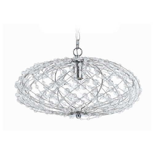 AF Lighting Silver Web Pendant 8286-1H