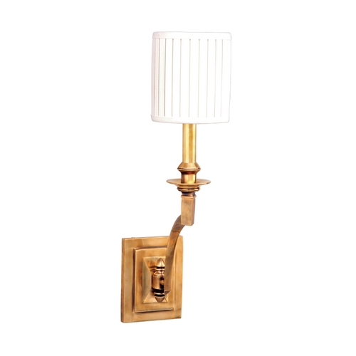 Hudson Valley Lighting Sconce Wall Light with White Shade in Aged Brass Finish 7901-AGB