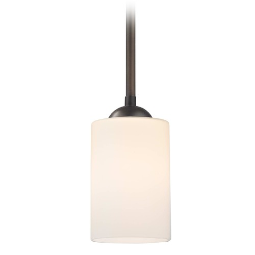 Design Classics Lighting Design Classics Gala Fuse Neuvelle Bronze LED Mini-Pendant Light with Cylindrical Shade 681-220 GL1028C