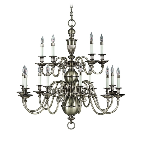Hinkley Lighting Chandelier in Pewter Finish 4417PW
