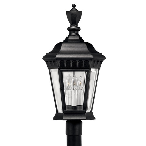 Hinkley Lighting Post Light with Clear Glass in Black Finish 1707BK