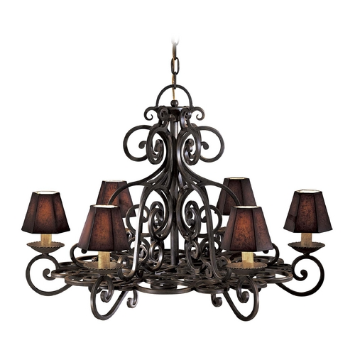 Metropolitan Lighting Old World Chandelier in Black Forest Finish - Shades Not Included N6311-BF