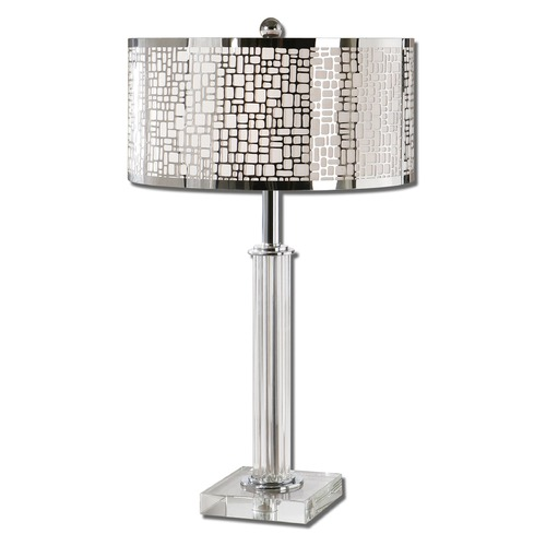 Uttermost Lighting Uttermost Lucius Crystal Column Table Lamp 26578-1
