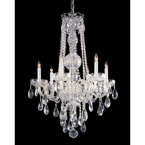 Crystorama Lighting Crystorama Lighting Traditional Crystal Polished Chrome Chandelier 1106-CH-CL-SAQ