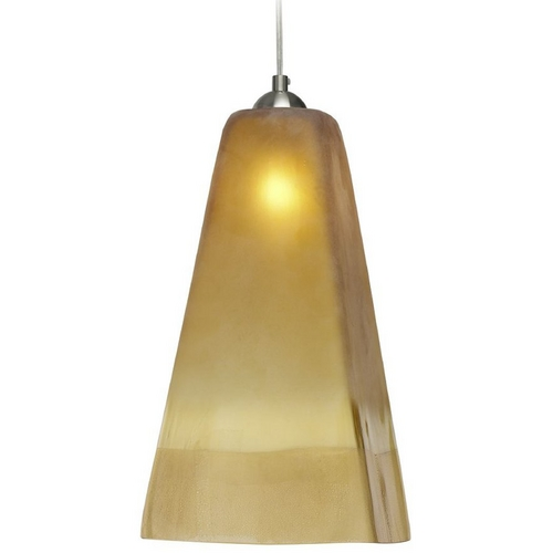 Oggetti Lighting Oggetti Lighting San Marco Satin Nickel Mini-Pendant Light with Square Shade 29-3104A