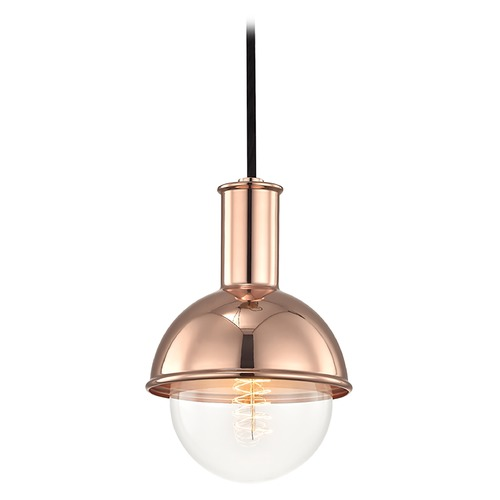 Mitzi by Hudson Valley Riley Polished Copper Mini-Pendant Light Mitzi by Hudson Valley H111701-POC