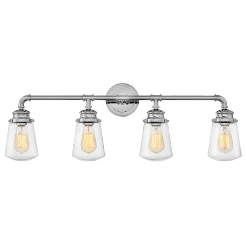 Hinkley Hinkley Fritz 4-Light Chrome Bathroom Light with Clear Glass 5034CM