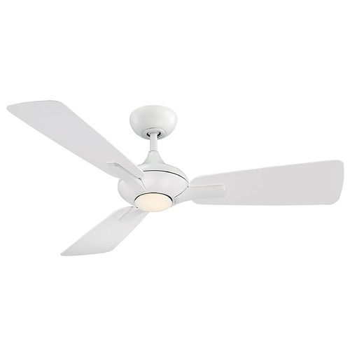 Modern Forms by WAC Lighting Modern Forms Matte White 52-Inch LED Smart Ceiling Fan 1110LM 3000K FR-W1819-52L-MW