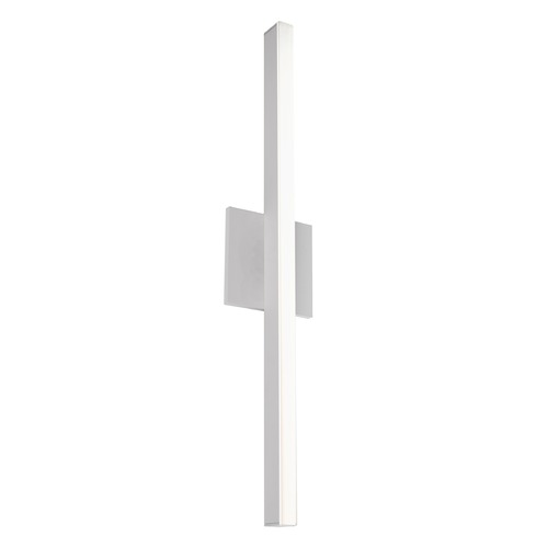 Kuzco Lighting Modern Brushed Nickel LED Sconce with Frosted Shade 3000K 831LM WS10324-BN