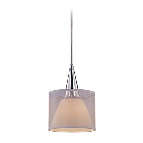 George Kovacs Lighting Modern Mini-Pendant Light with White Shade P312-077