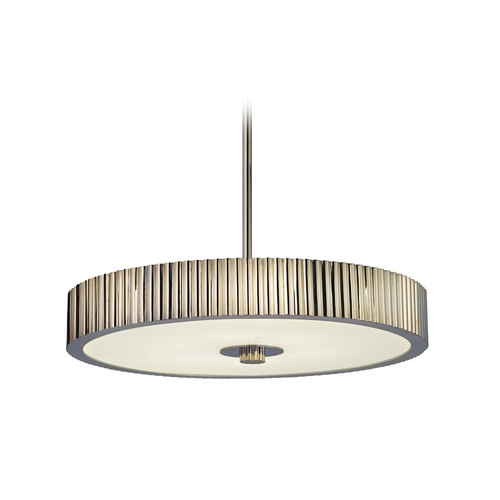 Sonneman Lighting Modern Drum Pendant Light in Polished Nickel Finish 4623.35