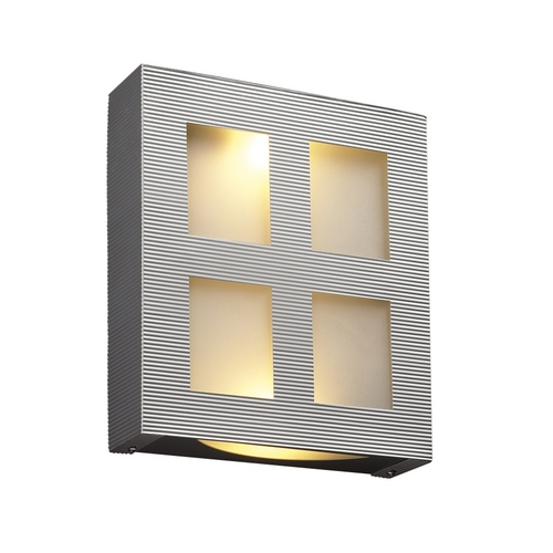 PLC Lighting Modern Sconce Wall Light with White Glass in Aluminum Finish 6416  AL