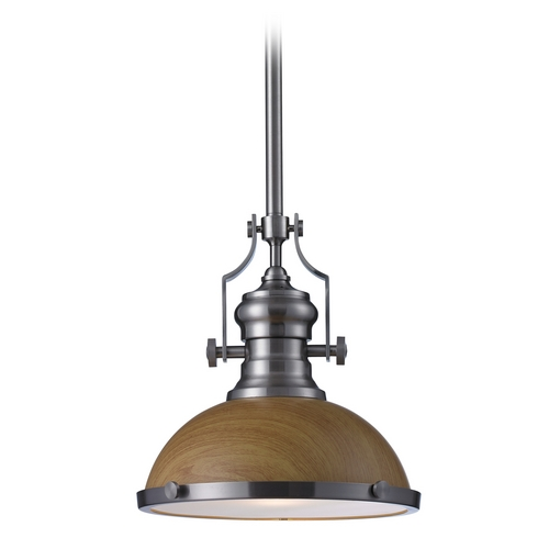 Elk Lighting Pendant Light in Satin Nickel Finish 66574-1