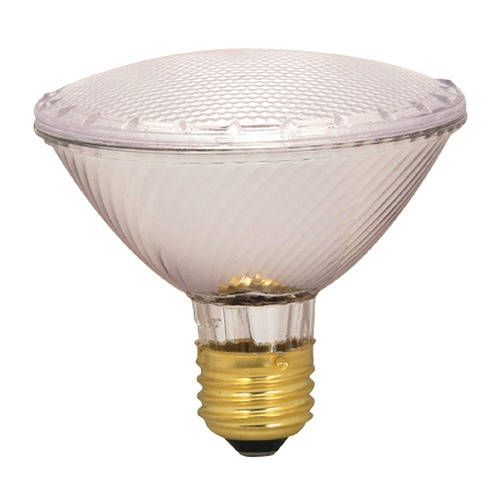 Satco Lighting Halogen PAR30 Light Bulb Medium Base Narrow Flood 34 Degree Beam Spread 2900K 130V Dimmable S2330