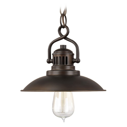 Capital Lighting Capital Lighting Oneill Burnished Bronze Mini-Pendant Light with Bowl / Dome Shade 3797BB