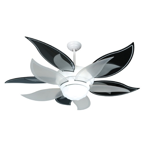 Craftmade Lighting Craftmade Lighting Bloom White Ceiling Fan with Light K10612